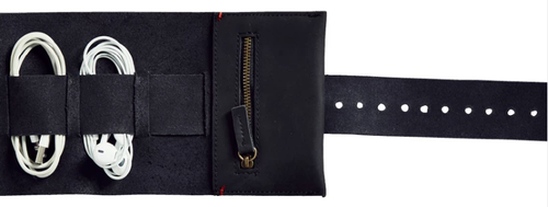 Cord Roll in Black Leather-Afternoons with Albert-Bristle by Melissa Simmonds