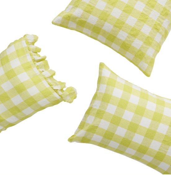 Lemoncello Pillow Case Set-Society of Wanderers-Bristle by Melissa Simmonds