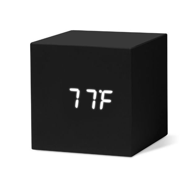 Cube Clock - Black-MoMa-Bristle by Melissa Simmonds