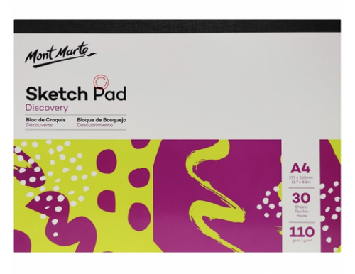 Sketch Pad A4 30 Sheets-Mont Marte-Bristle by Melissa Simmonds