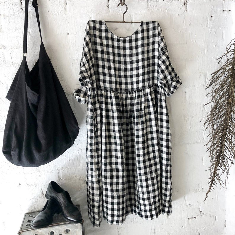 Sarah Black and White Gingham