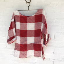 Load image into Gallery viewer, Jane Linen Top - Red and White Square-Meg by Design-Bristle by Melissa Simmonds