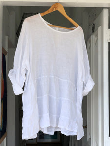 Stella Linen Top - White