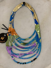 Load image into Gallery viewer, SI Illusion Short Necklace Blue/Multi-Mingk-Bristle by Melissa Simmonds