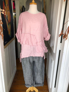 Antonia Linen Top - Pink-DiModa-Bristle by Melissa Simmonds