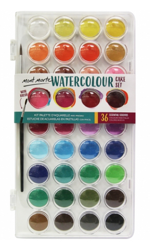Watercolour Cake Set 37pc