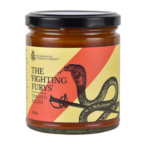 The 'Fighting Furys' Tomato Relish 260g-The Regimental Condiment Company-Bristle by Melissa Simmonds