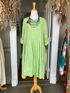 Linen Baby Doll Dress - Lime-Clothing-DiModa-Bristle by Melissa Simmonds
