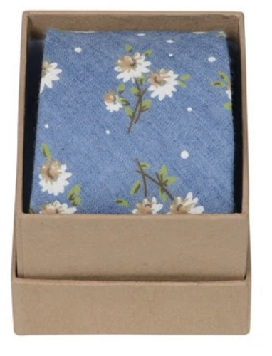 Ortc Man Tie - Chambray Flowers-Ortc Man-Bristle by Melissa Simmonds