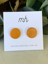 Load image into Gallery viewer, MH Ceramic Earrings - Turmeric stud-Melanie Hardy-Bristle by Melissa Simmonds