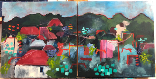 Paddington Diptych-Melissa Simmonds-Bristle by Melissa Simmonds