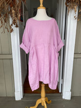 Load image into Gallery viewer, Safina Tunic Dress - Fuchsia