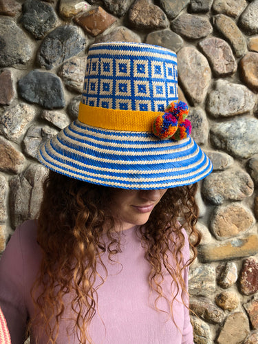 La Chiva #1 Straw Hat-Polkaco-Bristle by Melissa Simmonds