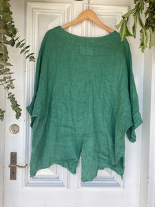 Sofia Linen Top - Emerald-DiModa-Bristle by Melissa Simmonds