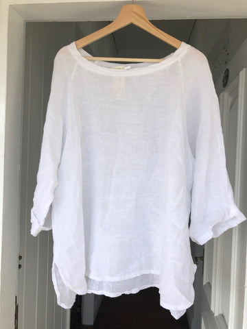 Giorgia Linen Top - White