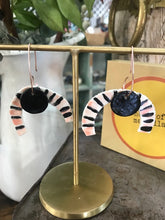 Load image into Gallery viewer, Large Porcelain Earrings - Tiger Moon