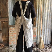 Load image into Gallery viewer, Pinafore Apron-Light Natural & Black Stripe
