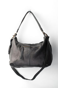 Small Leather Slouchy Bag Black-Accessories-Juju & Co-Bristle by Melissa Simmonds