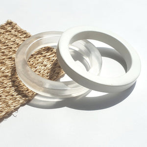 LOOP Bangle - Oyster-Viviano-Bristle by Melissa Simmonds
