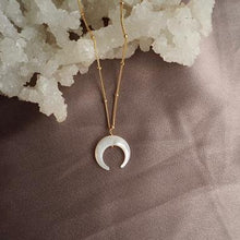 Load image into Gallery viewer, New Moon Necklace - Earth bound-Ace Of Swords-Bristle by Melissa Simmonds