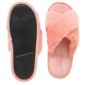 BLUSH PINK ADULT SLIPPERS-Kip & Co-Bristle by Melissa Simmonds