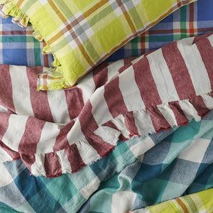 PREORDER - Cornflower Check Fitted Sheet