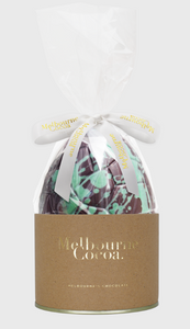 Mint Crisp 70% dark Easter Egg-Melbourne Cocoa-Bristle by Melissa Simmonds