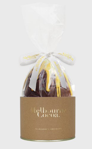 Honeycomb Easter Egg-Melbourne Cocoa-Bristle by Melissa Simmonds