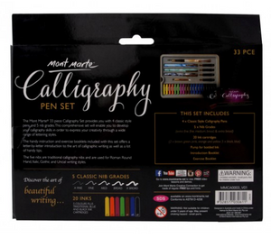 Calligraphy Set 33pce-Mont Marte-Bristle by Melissa Simmonds