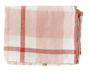 Floss Check Linen Napery-Society of Wanderers-Bristle by Melissa Simmonds