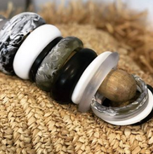 Load image into Gallery viewer, MAX Bangle - Oyster-Viviano-Bristle by Melissa Simmonds