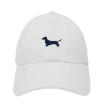 ORTC Dachshund Cap White-Ortc Man-Bristle by Melissa Simmonds