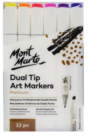 Dual Tip Art Markers 12pc