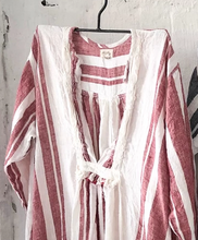 Load image into Gallery viewer, Bronte Linen Dress - Red and White