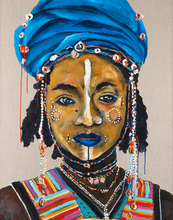 Load image into Gallery viewer, Wodaabe Cattle Herder-Melissa Simmonds-Bristle by Melissa Simmonds