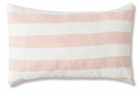 Standard Pillowcase Set - Blush Stripe