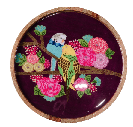 Ruby Star Traders Timber Tray - Budgies-Ruby Star Traders-Bristle by Melissa Simmonds