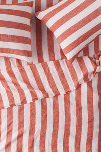 King Flat Sheet - Cherry Stripe