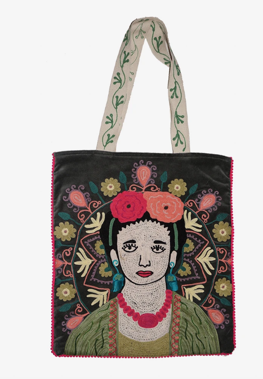 Ruby Star Traders Frida Velvet Bag - Grey-Bags-Ruby Star Traders-Bristle by Melissa Simmonds
