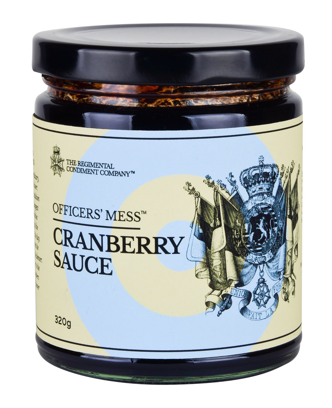 TRCC Officers Mess Cranberry Sauce 320g-The Regimental Condiment Company-Bristle by Melissa Simmonds