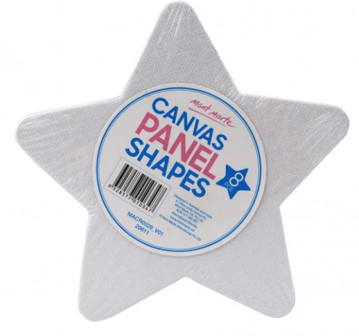 Canvas Panel Shapes 8pce - Star