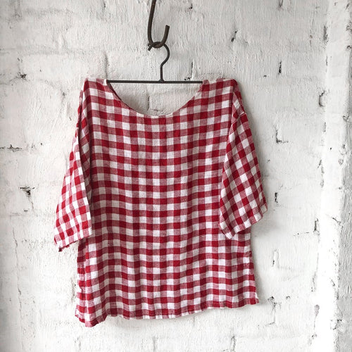 Jane Top Gingham Red-Meg by Design-Bristle by Melissa Simmonds