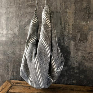 Oversized Linen Bag - Butcher Stripe-Meg by Design-Bristle by Melissa Simmonds