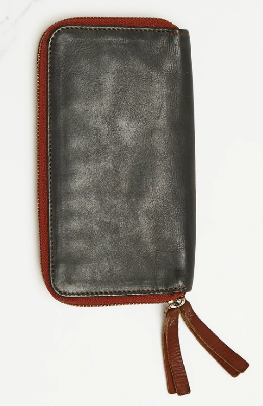 Leather Wallet - Navy