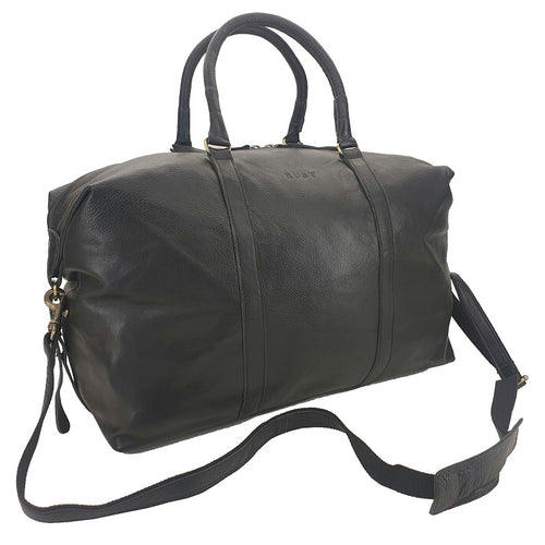 Trinity 50″ Black Cowhide Weekender Carry-On Duffle Bag-Bags-Boheme-Bristle by Melissa Simmonds
