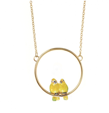 Load image into Gallery viewer, Couples Parrot Mini Round Necklace-Nach-Bristle by Melissa Simmonds