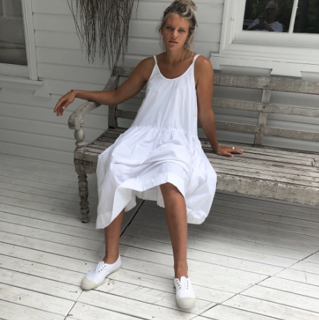 Cotton Poplin Slip Dress - White-Meg by Design-Bristle by Melissa Simmonds