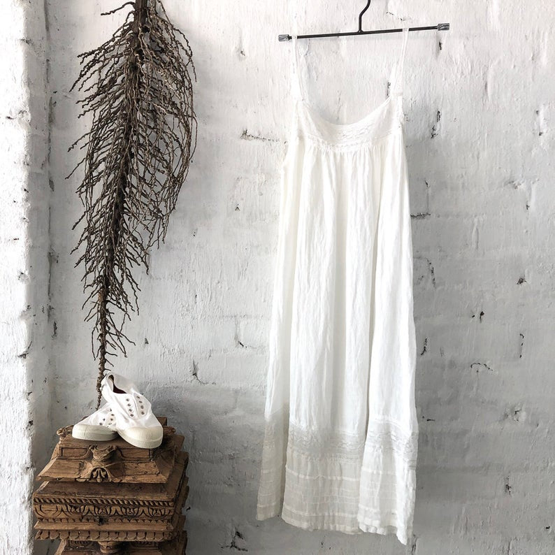 Alice Linen Slip White