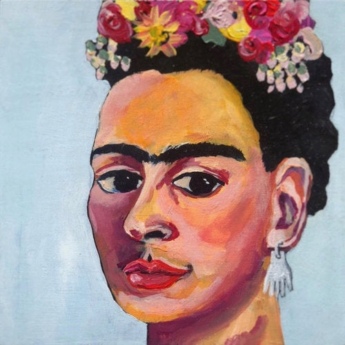 Frida Kahlo-Melissa Simmonds-Bristle by Melissa Simmonds