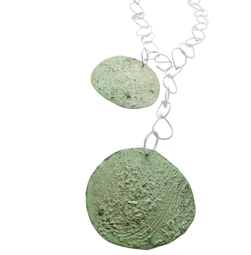 Dora Haralambaki - Two Round Element with Chain Drop Necklace